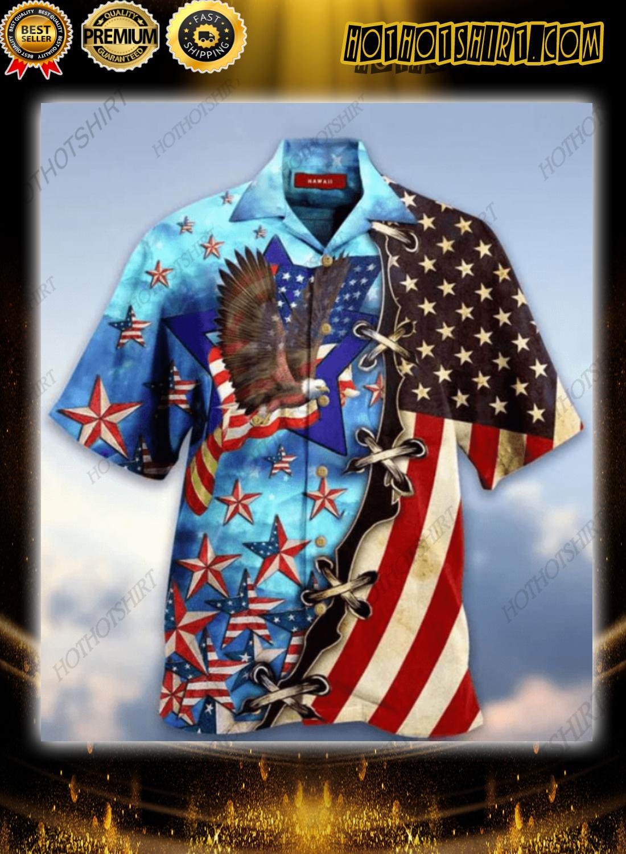 Eagle American Blue Skylight Hawaiian Unisex Shirt 2