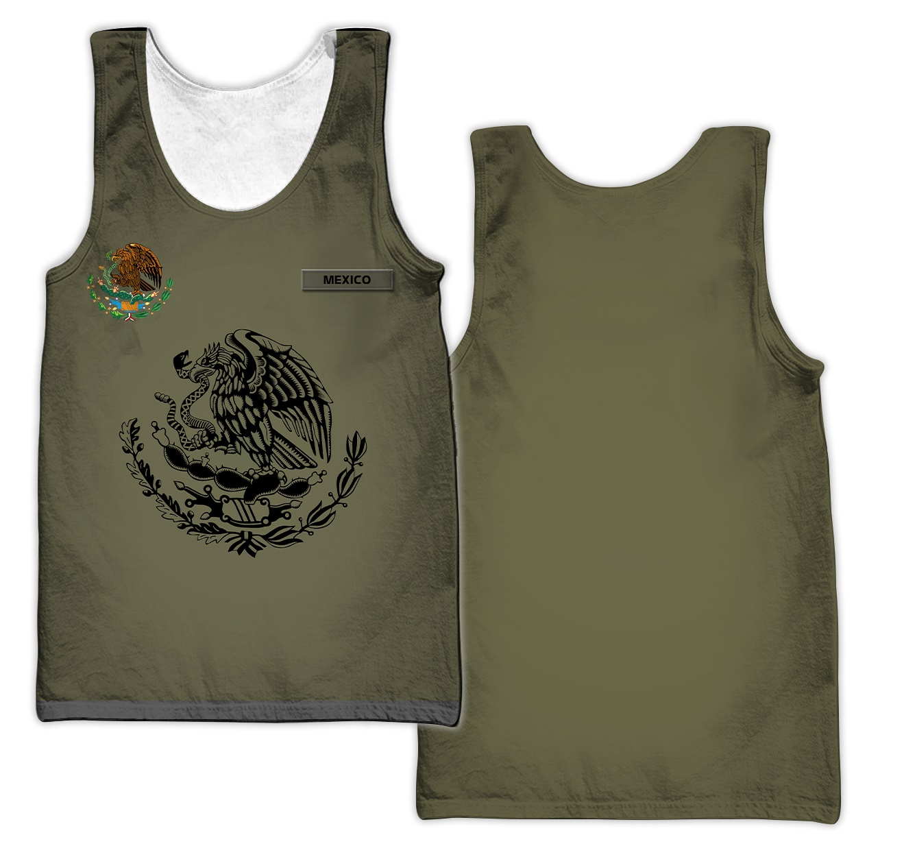 Eagle mexican customize all over printed tank top