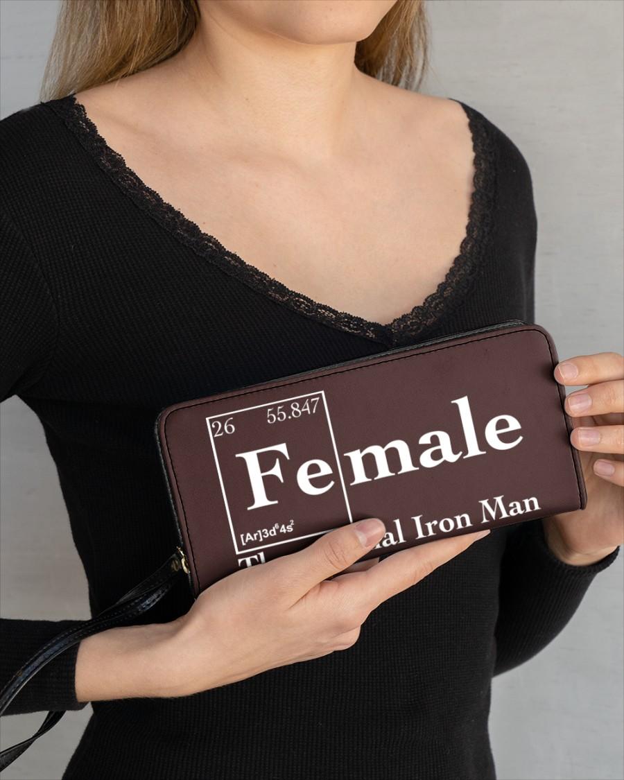 Female the original iron man Shirt Womens Clutch Purse 1