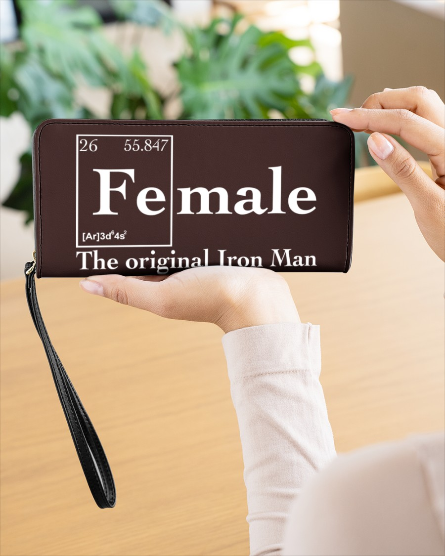 Female the original iron man Shirt Womens Clutch Purse 2