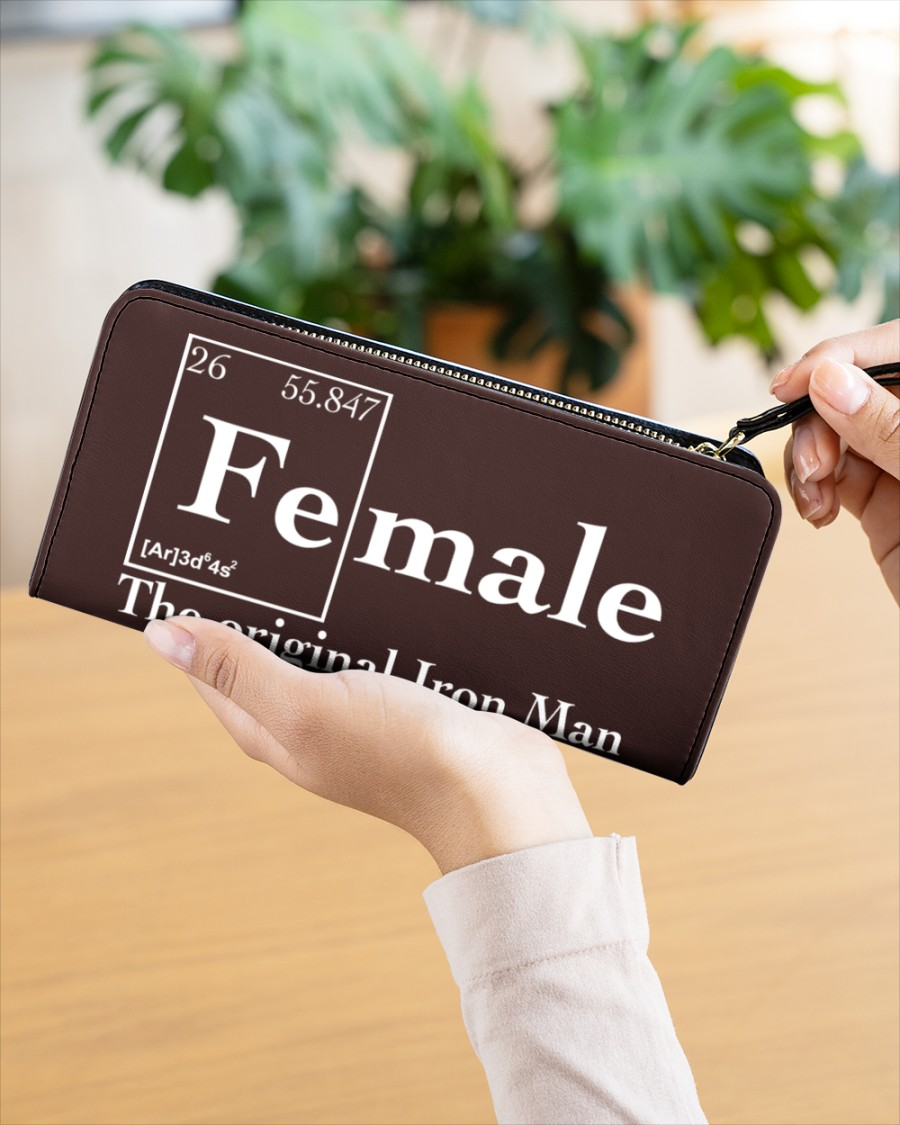 Female the original iron man Shirt Womens Clutch Purse 3