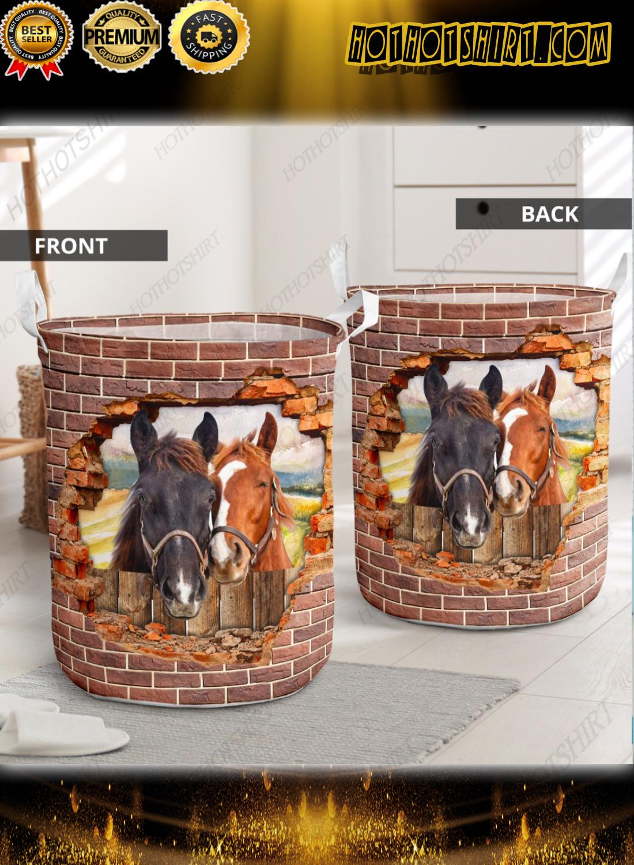 Horse hole brick wall laundry basket 2