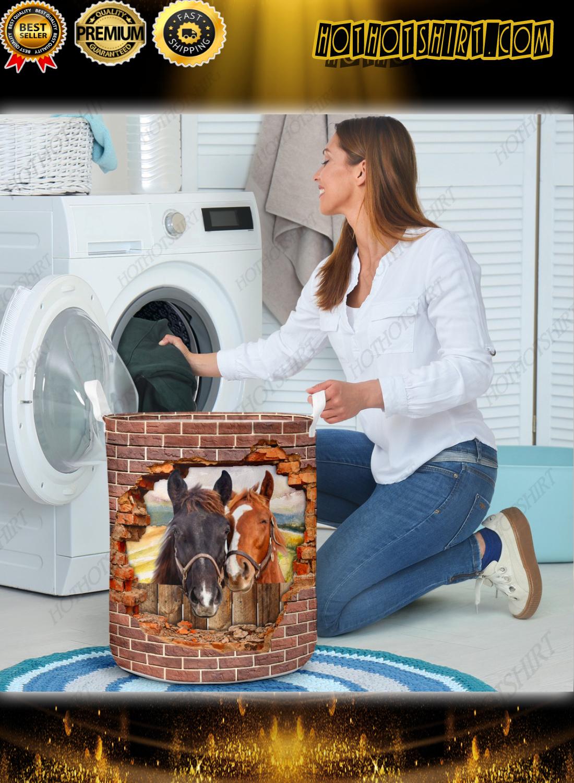 Horse hole brick wall laundry basket 3