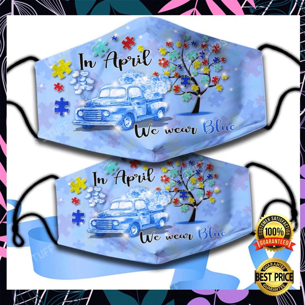 In April we wear blue face mask1
