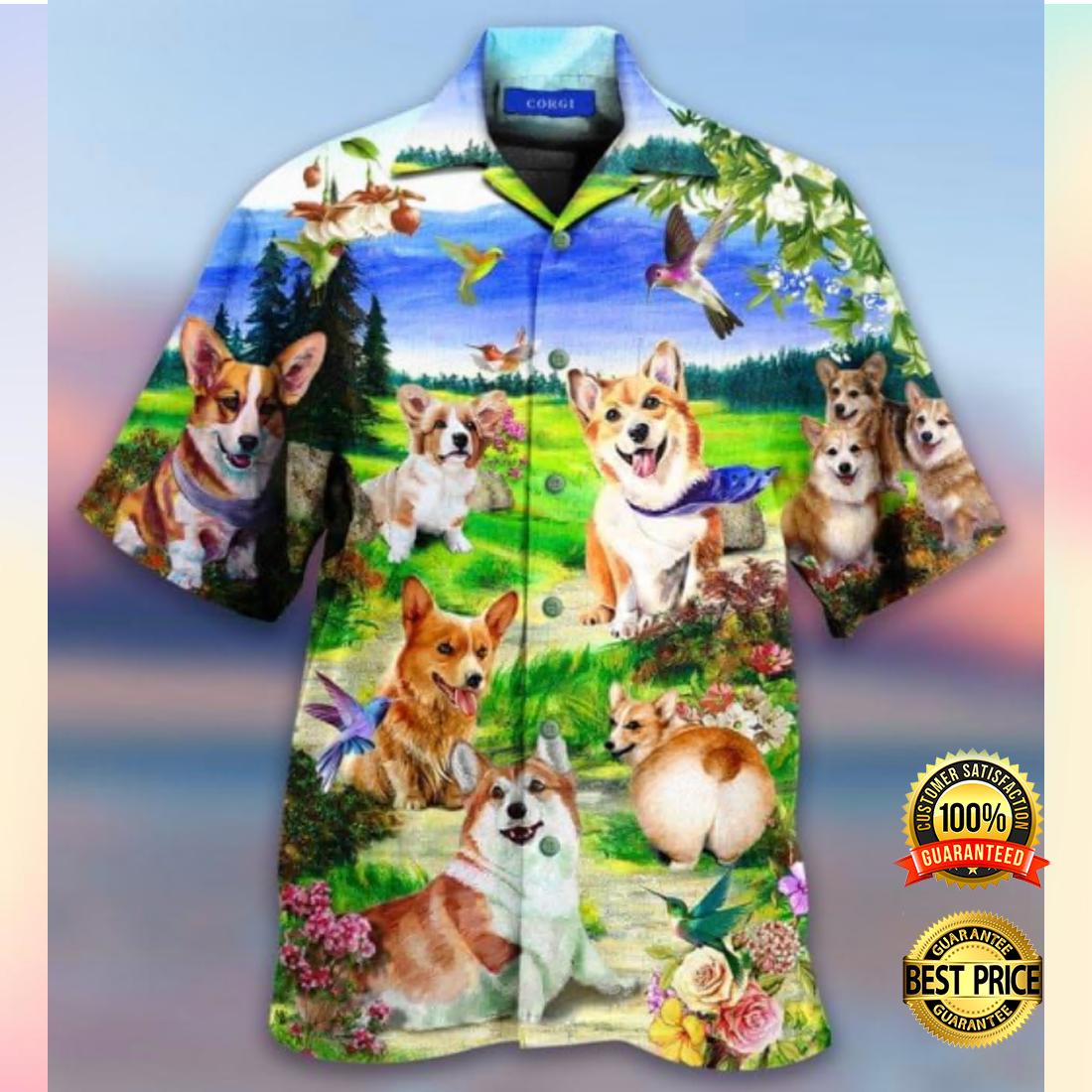 Life is better with a corgi hawaiian shirt 3