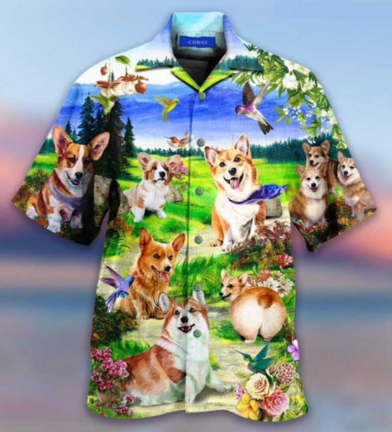 Life is better with a corgi hawaiian shirt