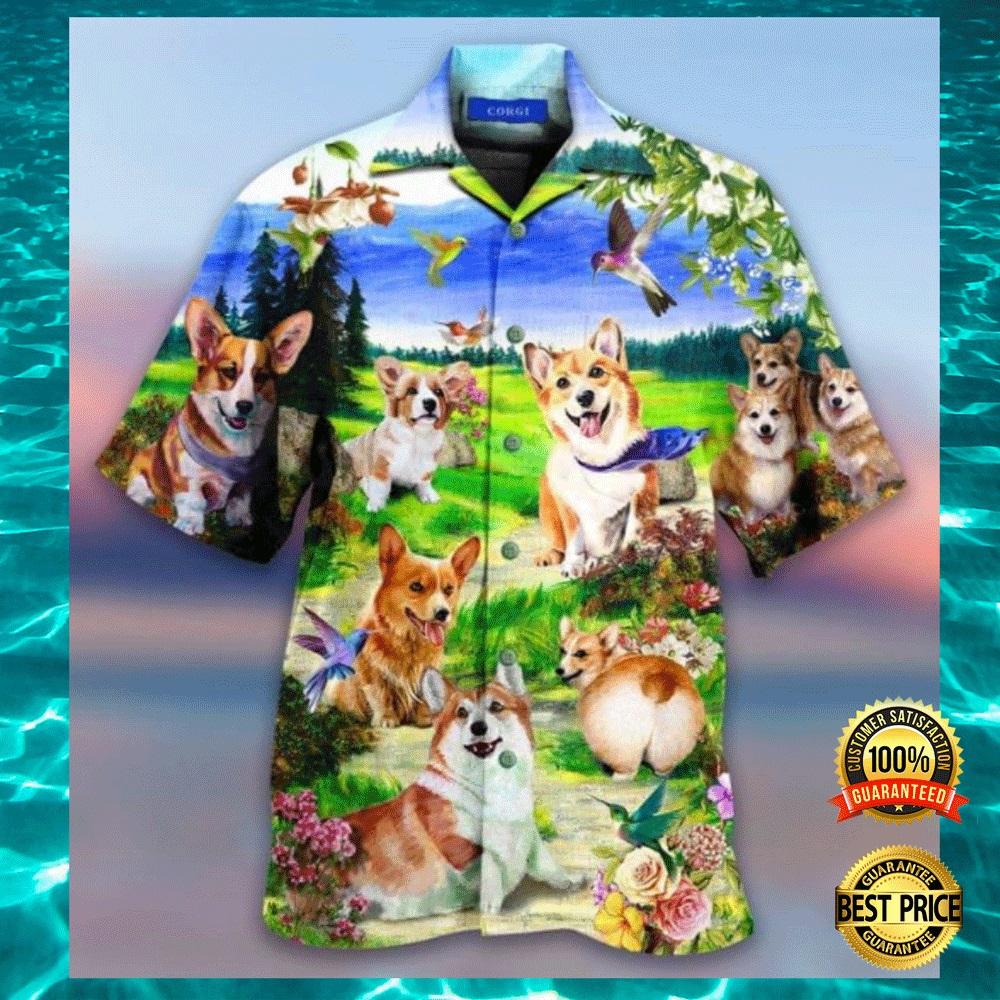 Life is better with a corgi hawaiian shirt1