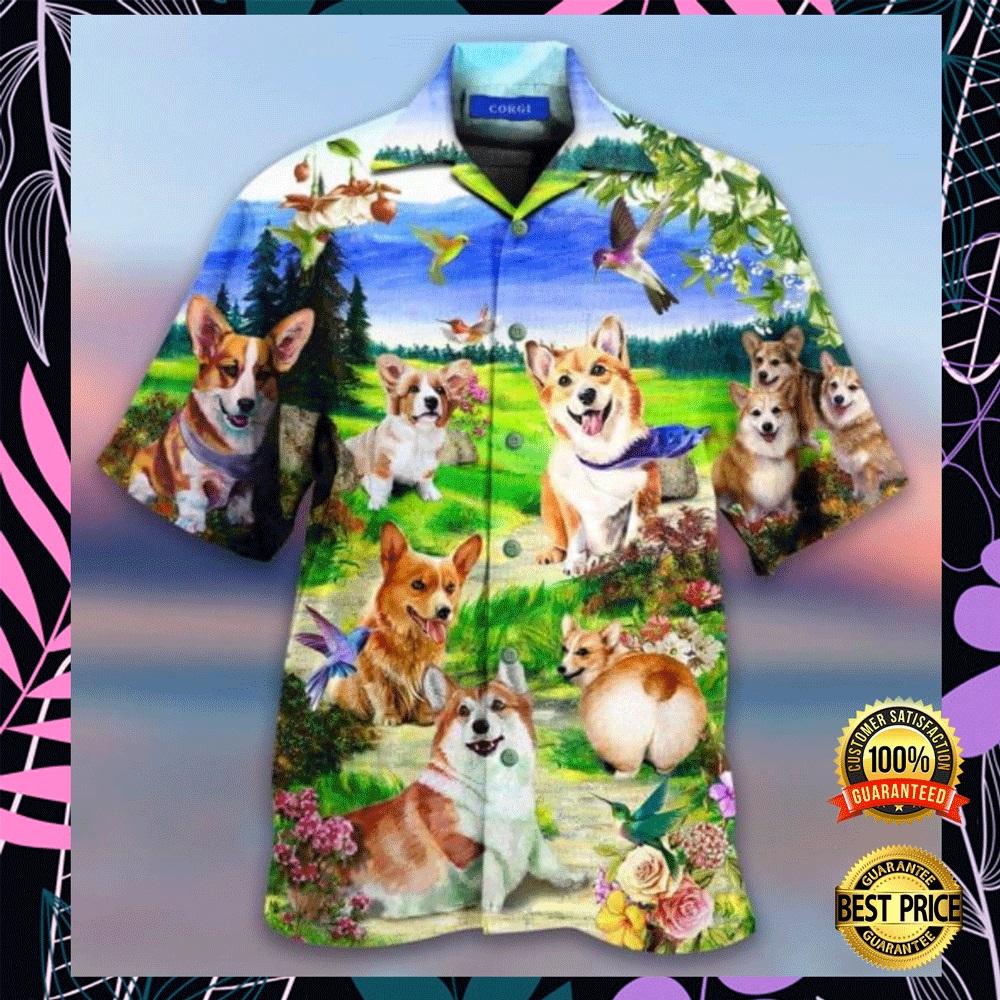 Life is better with a corgi hawaiian shirt2