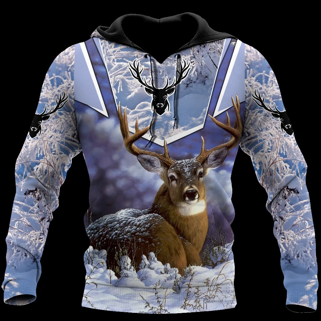 Love Deer 3D All Over Printed Hoodie And Shirts