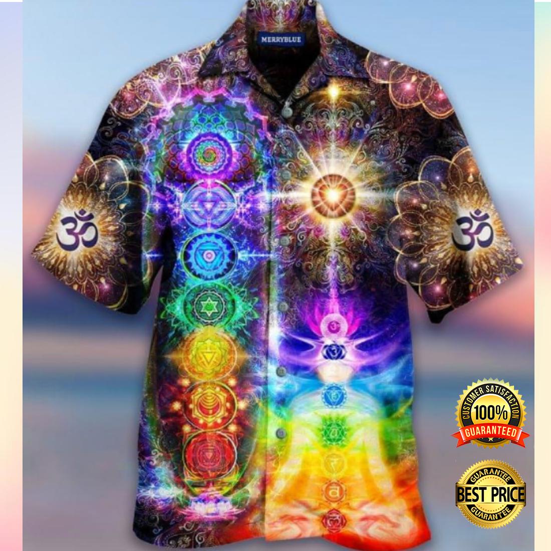 Mind and soul in a harmony Chakra hawaiian shirt 2