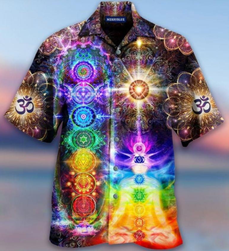 Mind and soul in a harmony Chakra hawaiian shirt