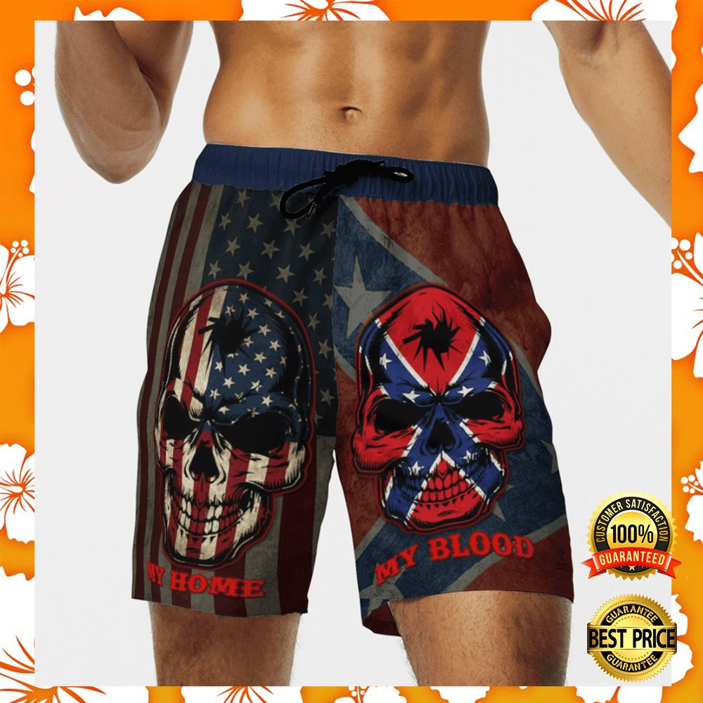 My home my blood southern american flag beach short2