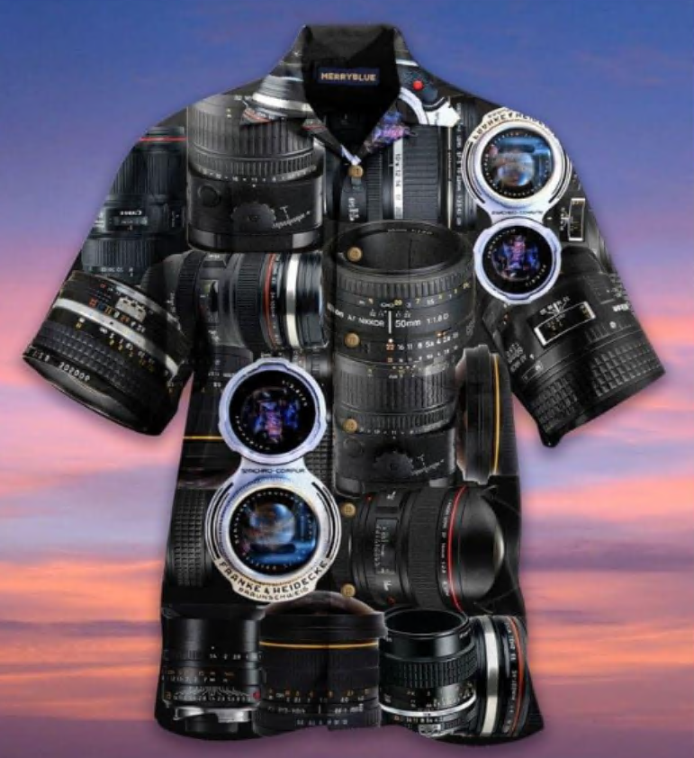 Once a photographer always a photographer hawaiian shirt