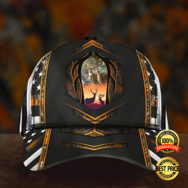 Personalized Deer hunting American flag cap 4 600x600 1