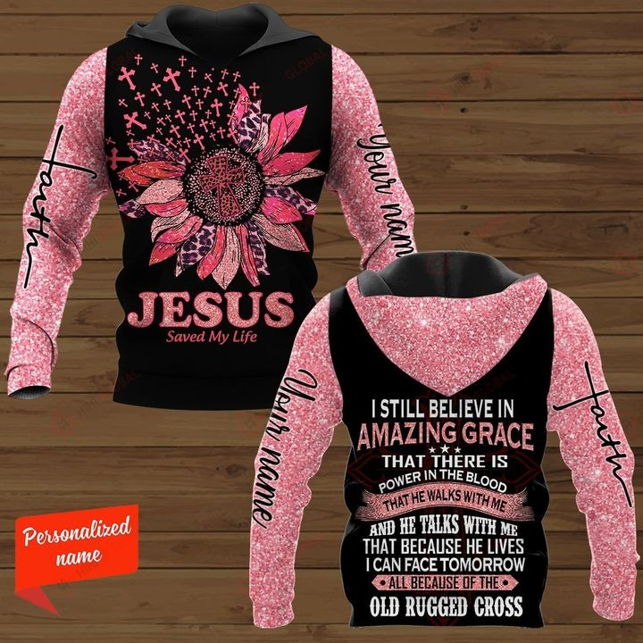 Personalized Jesus save my life 3D hoodie