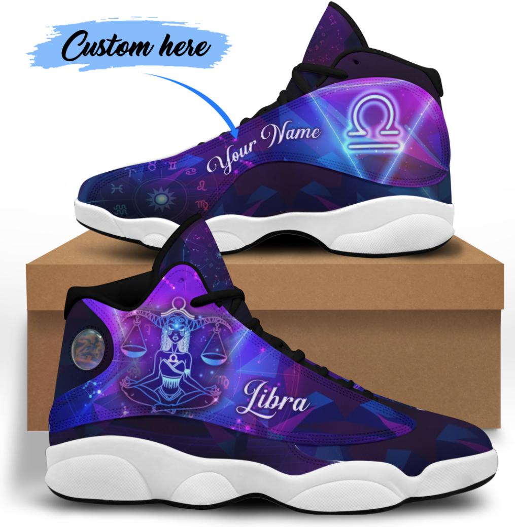 Personalized libra jordan 13 shoes