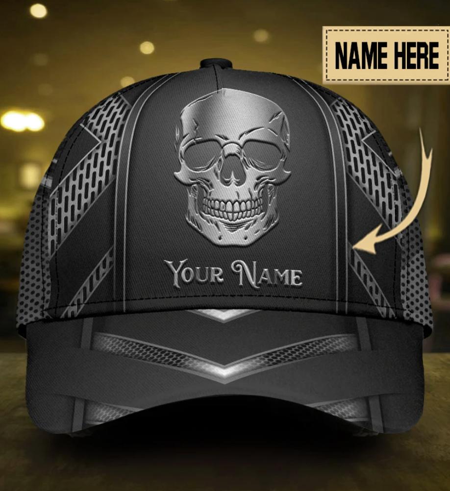 Personalized skull cap
