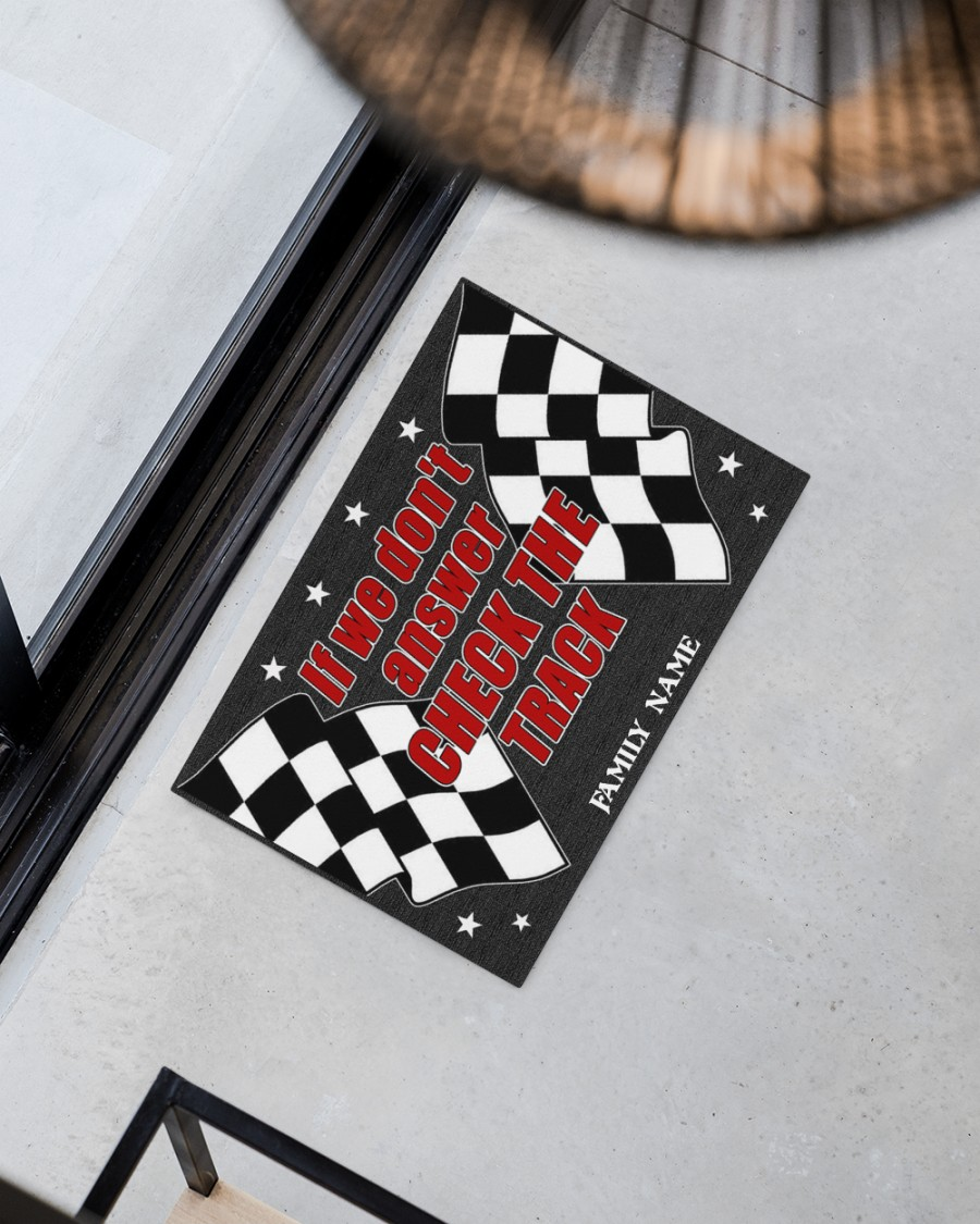 Pesonalized Dirt track racing if we dont answer check the track doormat 2