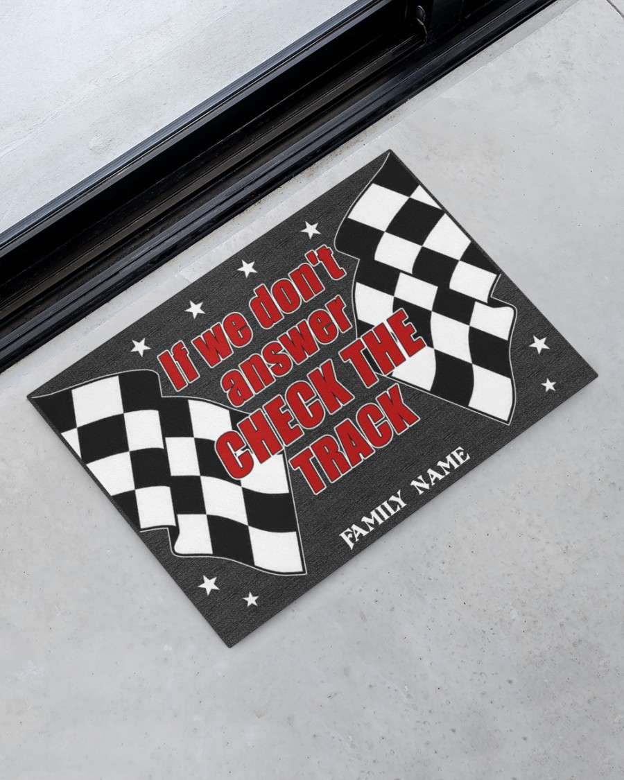 Pesonalized Dirt track racing if we dont answer check the track doormat 3