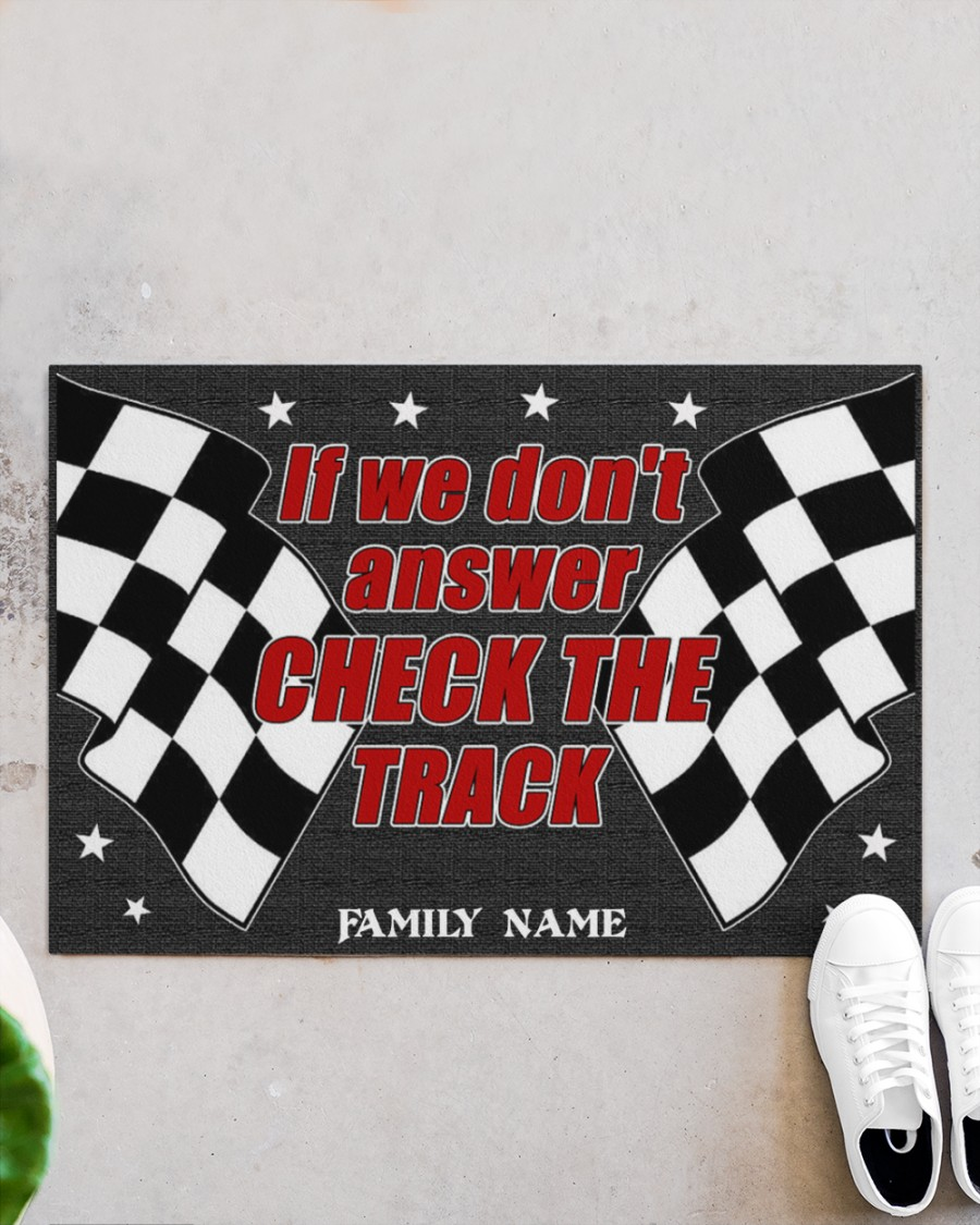 Pesonalized Dirt track racing if we dont answer check the track doormat
