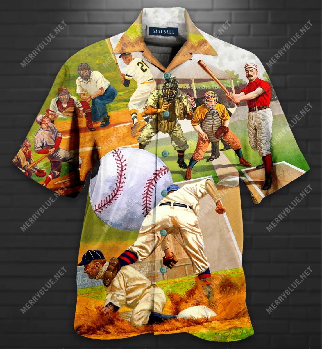 Playing Baseball Short Sleeve Shirt 1 1