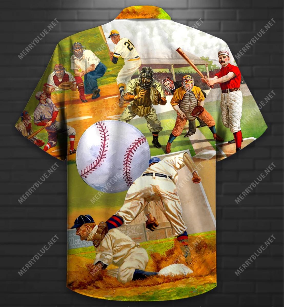 Playing Baseball Short Sleeve Shirt 2