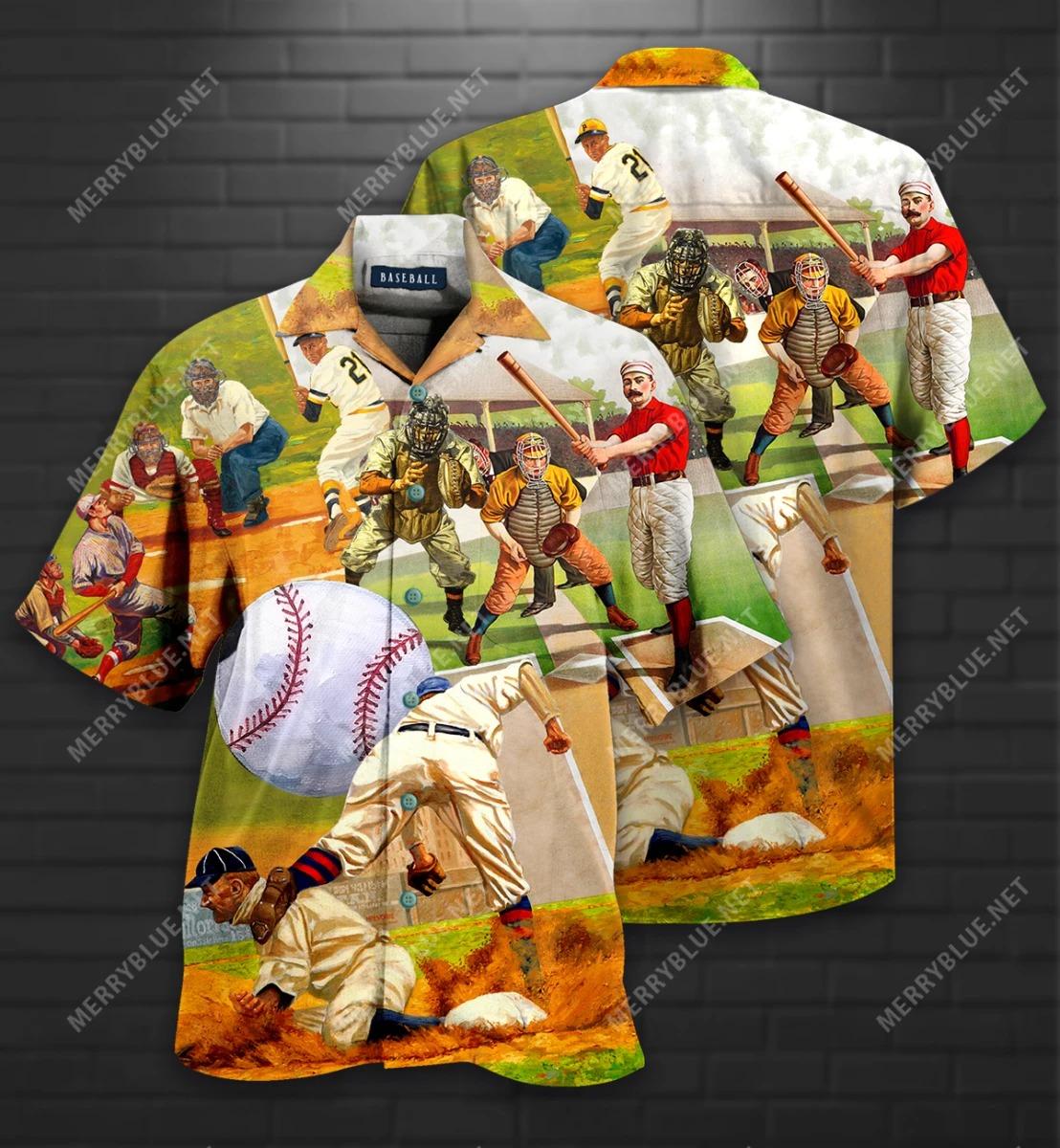 Playing Baseball Short Sleeve Shirt