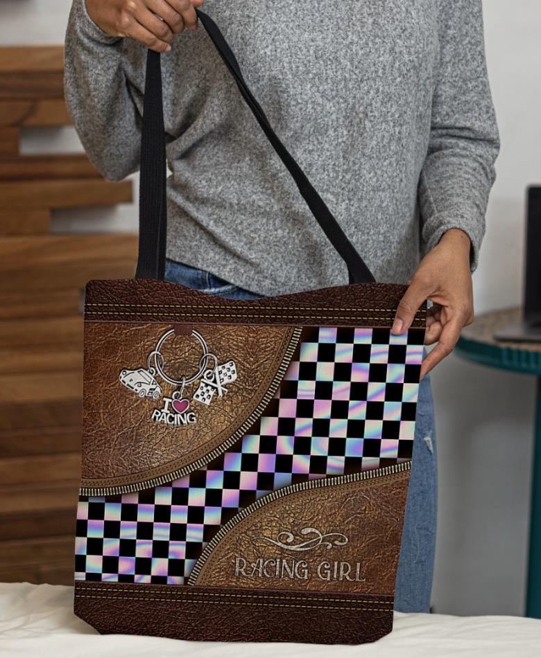 Racing girl tote bag 1