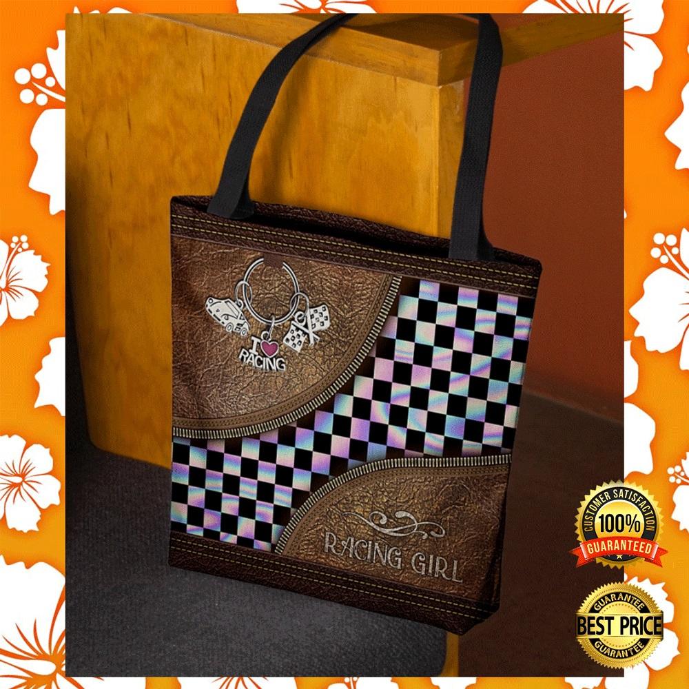 Racing girl tote bag1