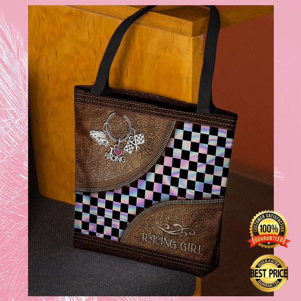 Racing girl tote bag2