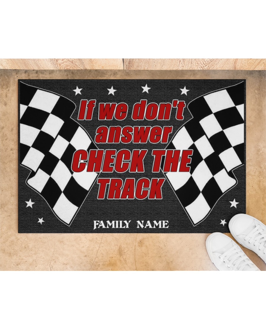 Racing if we dont answer check the track custom name doormat