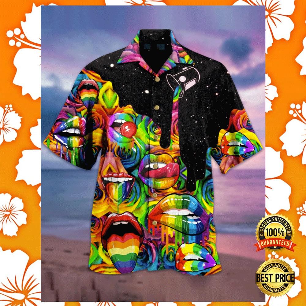 Rainbow lips hawaiian shirt2