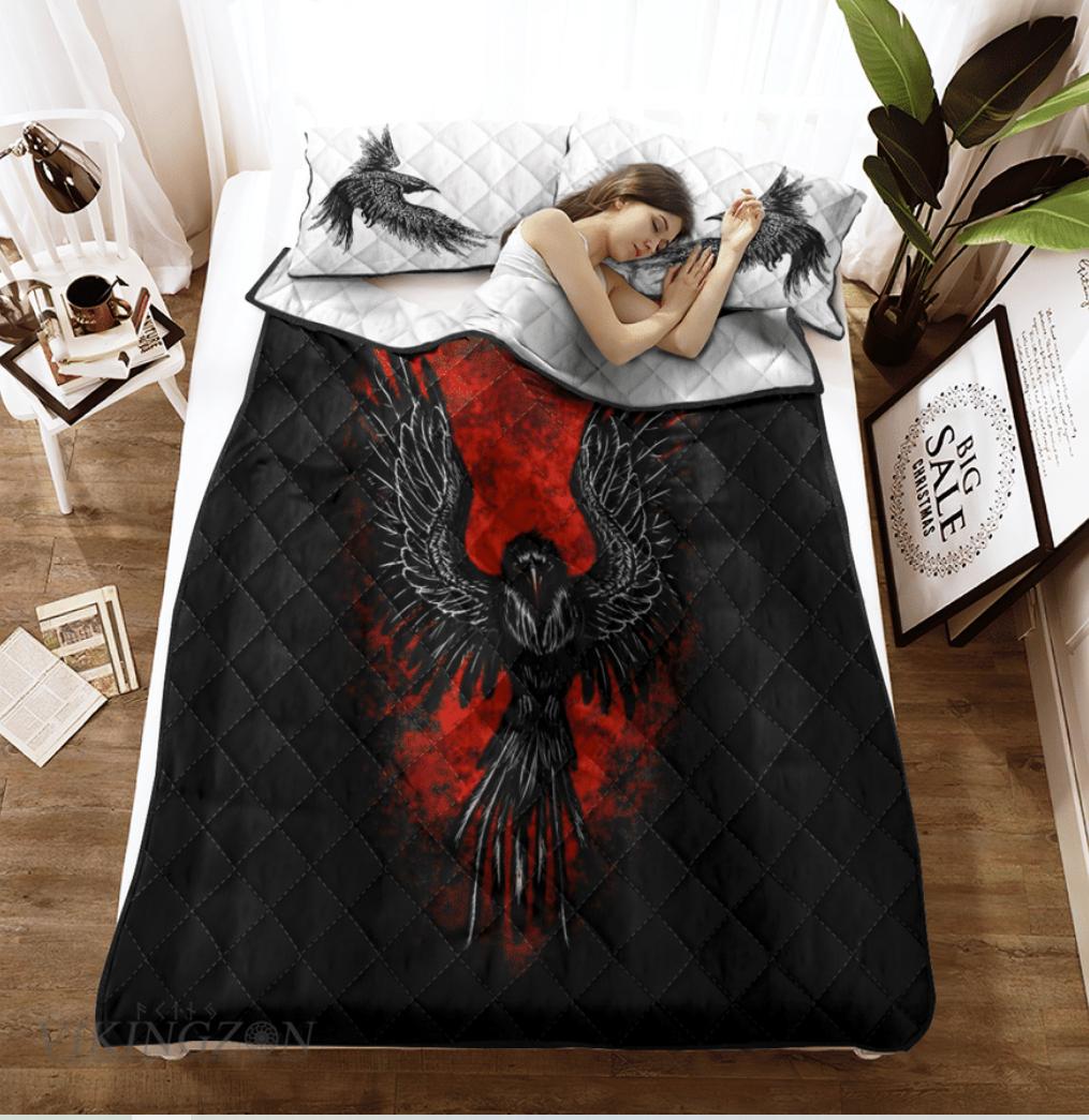 Raven viking bedding set 1