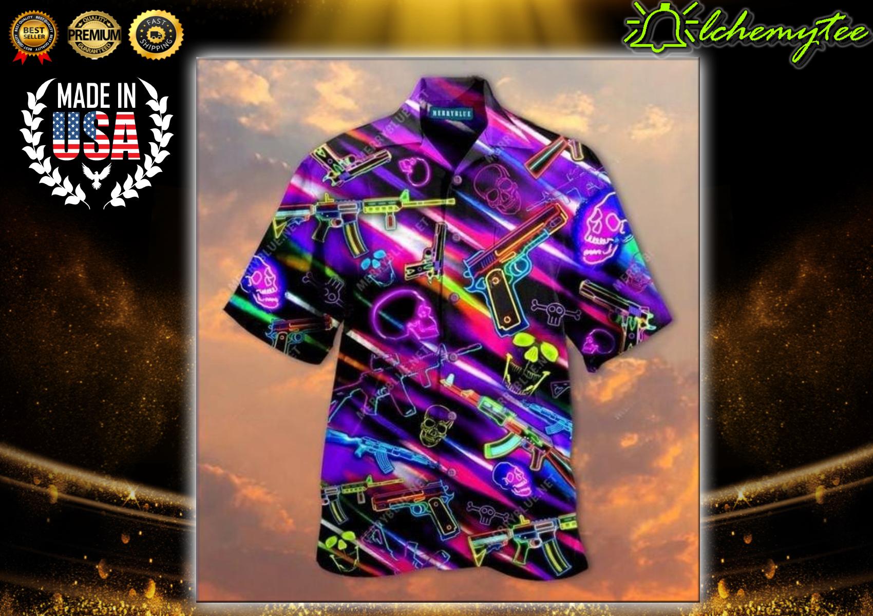 Real Men Dont Retreat They Reloads Unisex Hawaiian Shirt