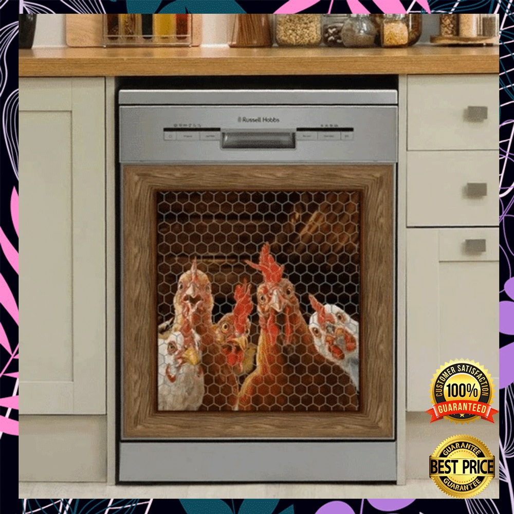 Rooster chicken decor dishwasher cover1