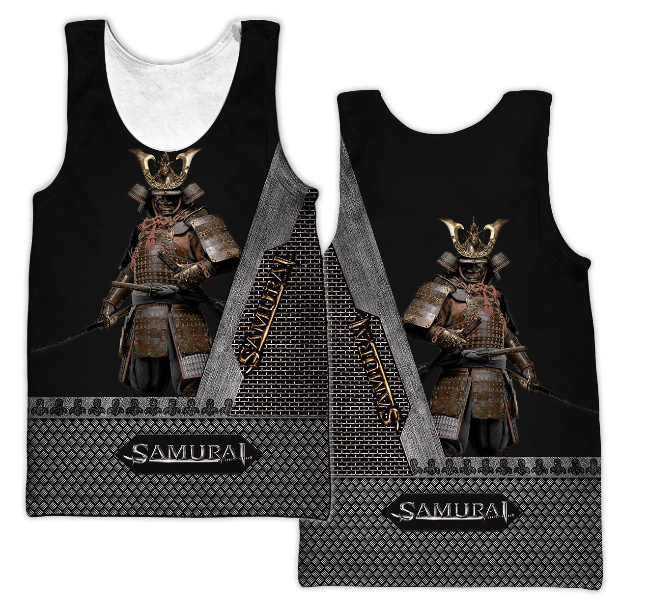 Samurai all over printed tank top