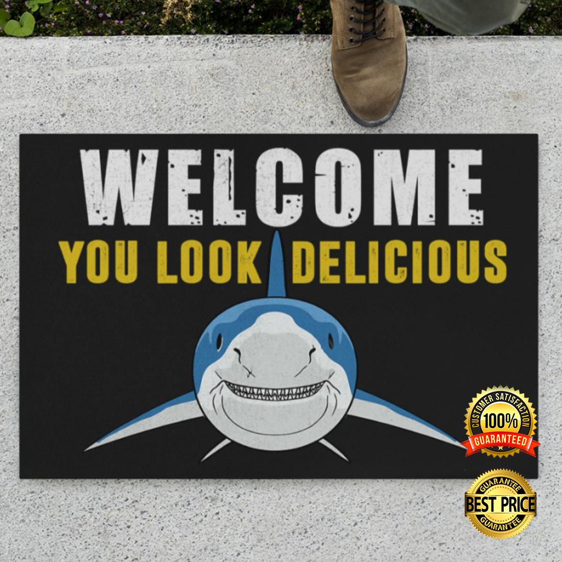 Shark welcome you look delicious doormat 4