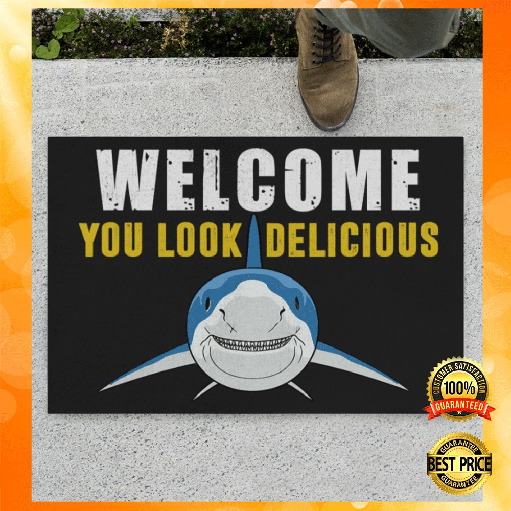 Shark welcome you look delicious doormat1