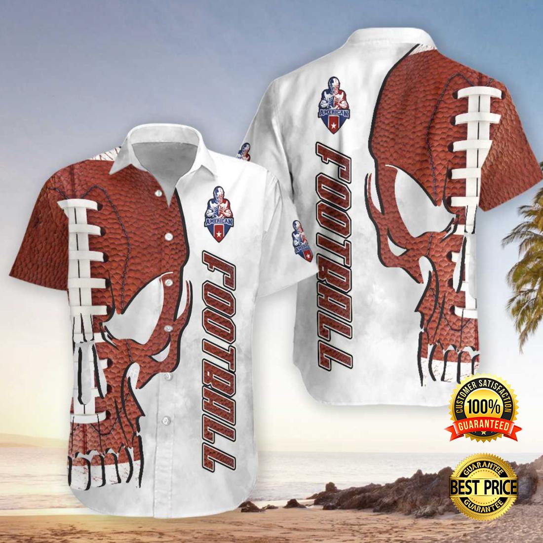 Skull American football hawaiian shirt 4