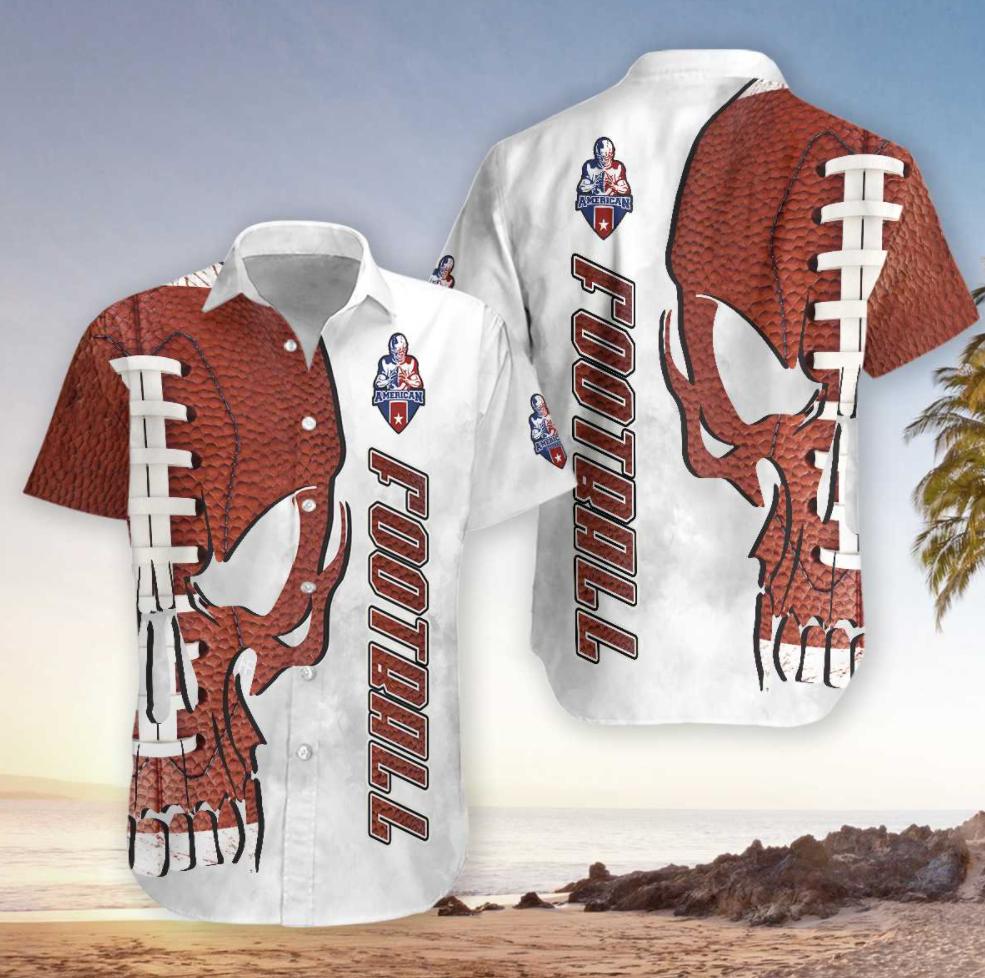 Skull American football hawaiian shirt
