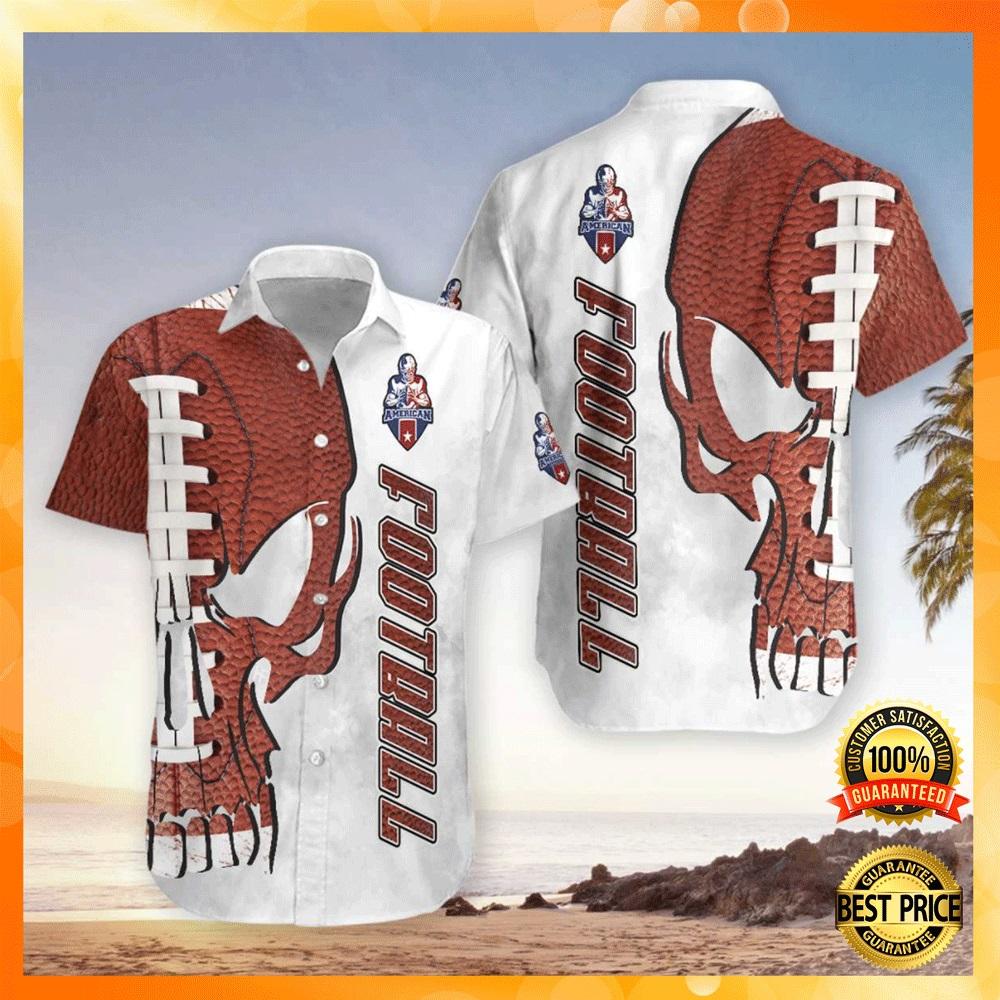 Skull American football hawaiian shirt1
