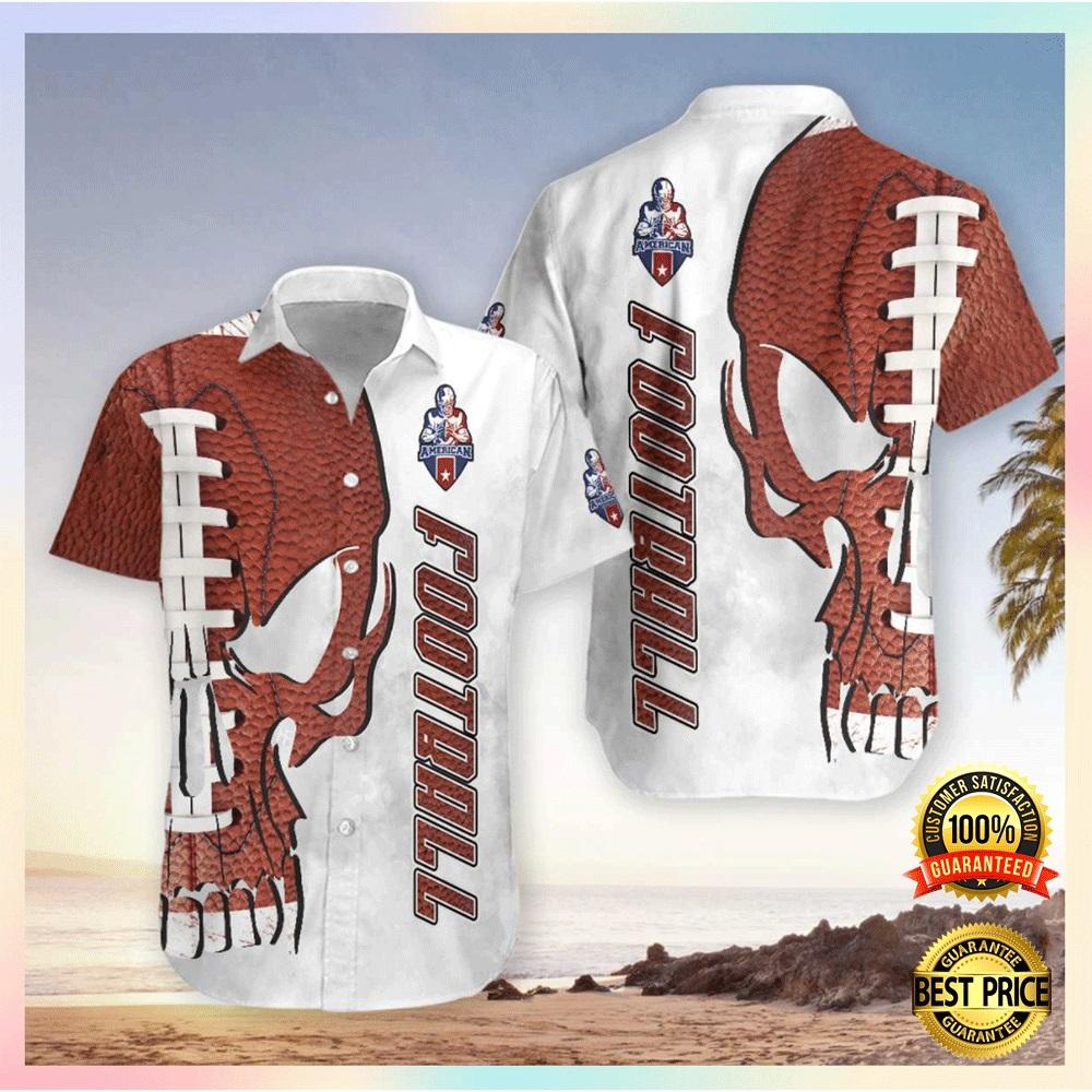 Skull American football hawaiian shirt2