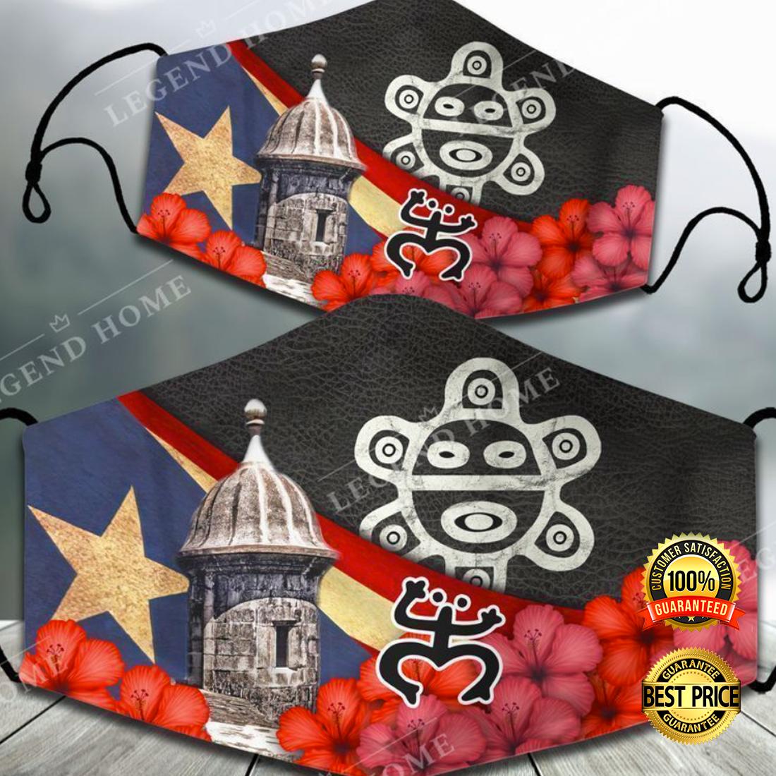 Sol taino puerto rico face mask 4