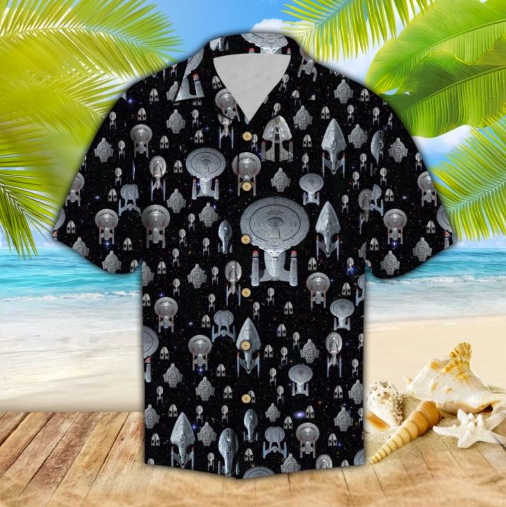 Spaceship hawaiian shirt