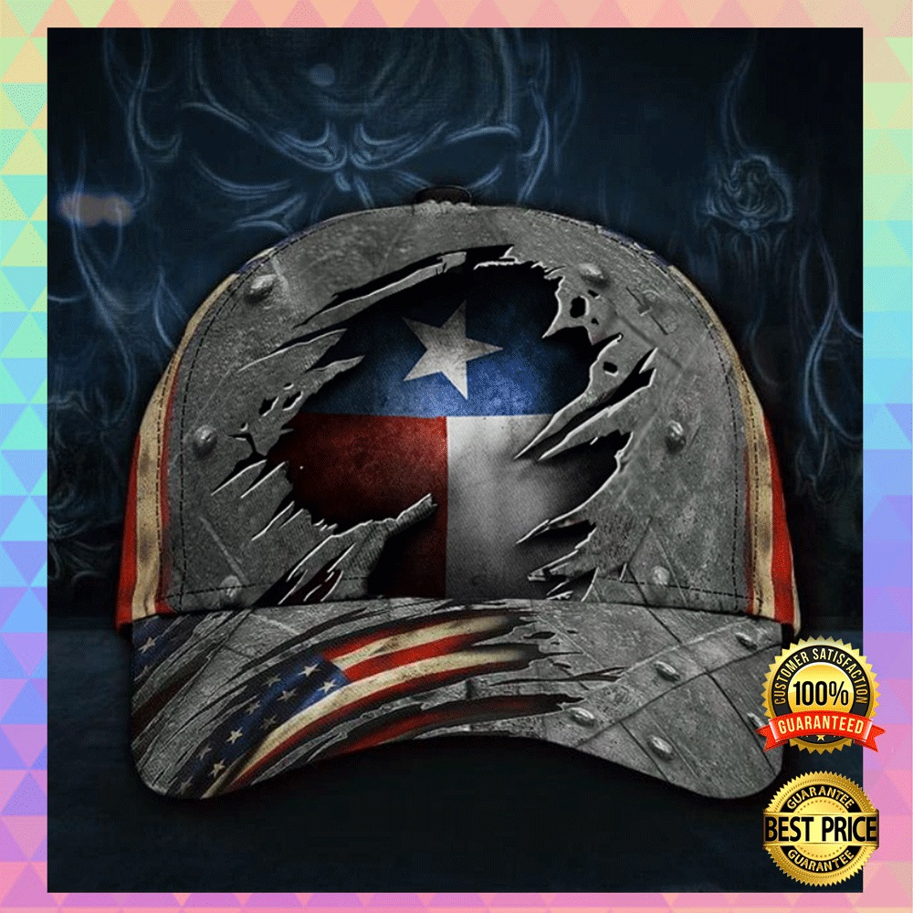 Texas state and American flag cap2