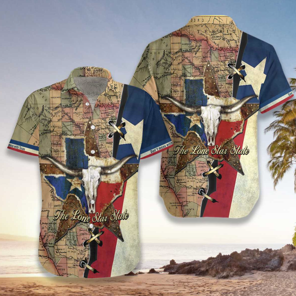 Texas the lone star state hawaiian shirt