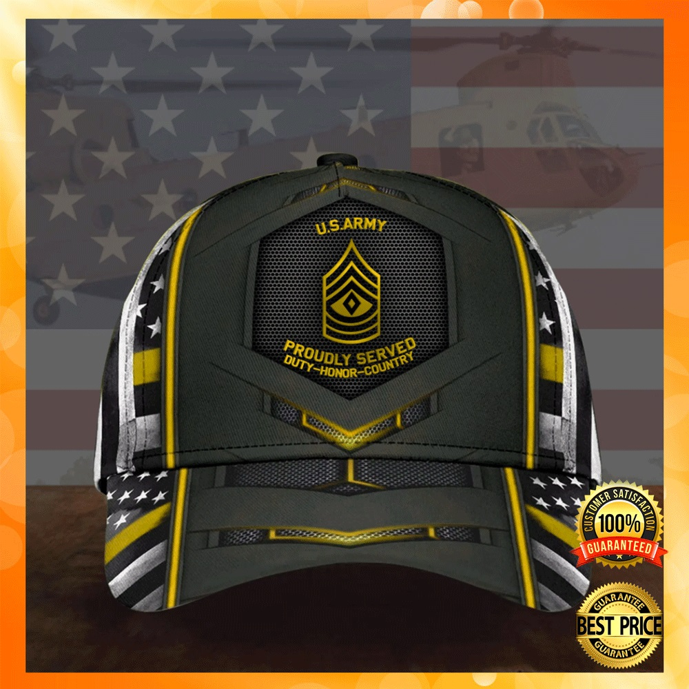 US army proudly served duty honor country cap1