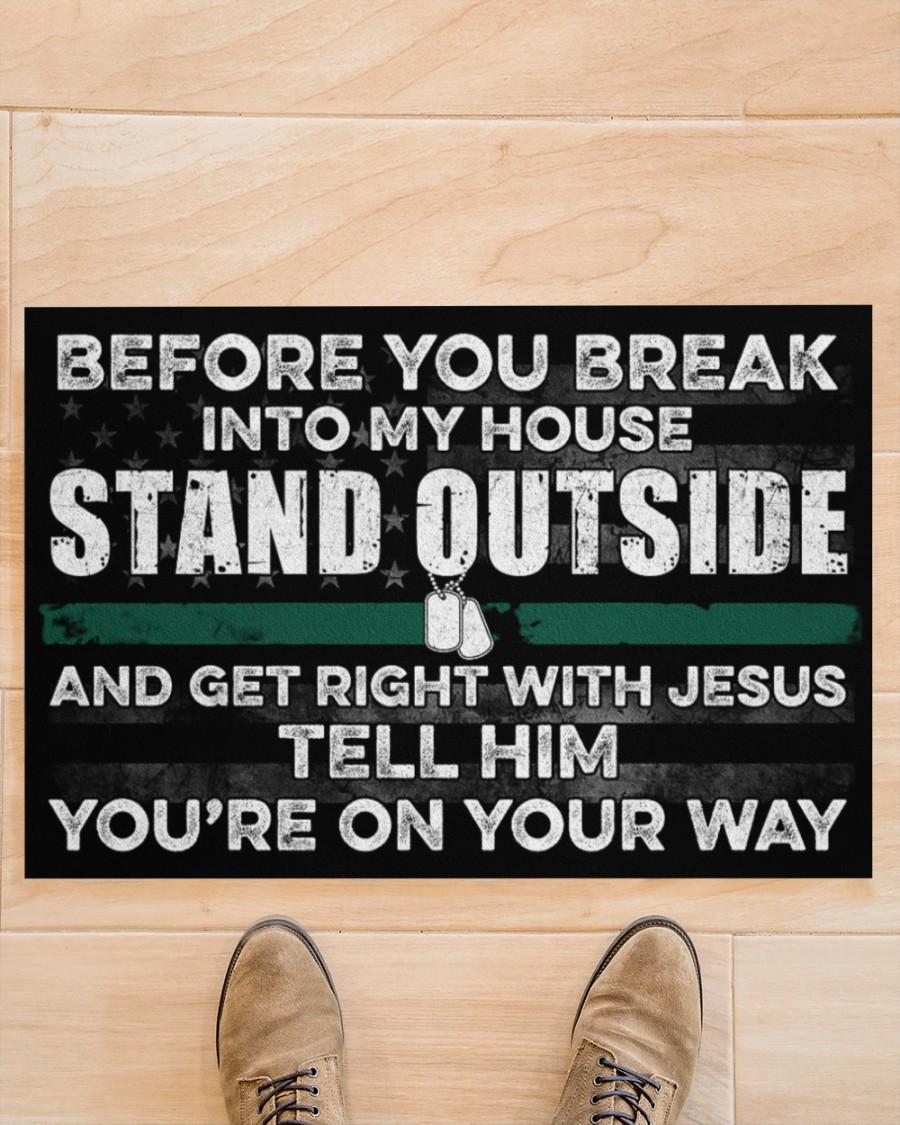 Veteran Before you break into my house doormat