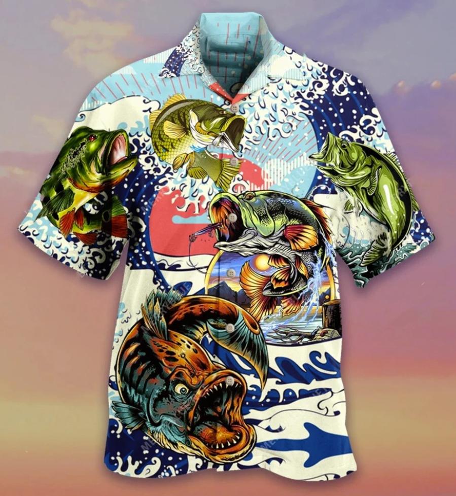 Vintage fishing hawaiian shirt