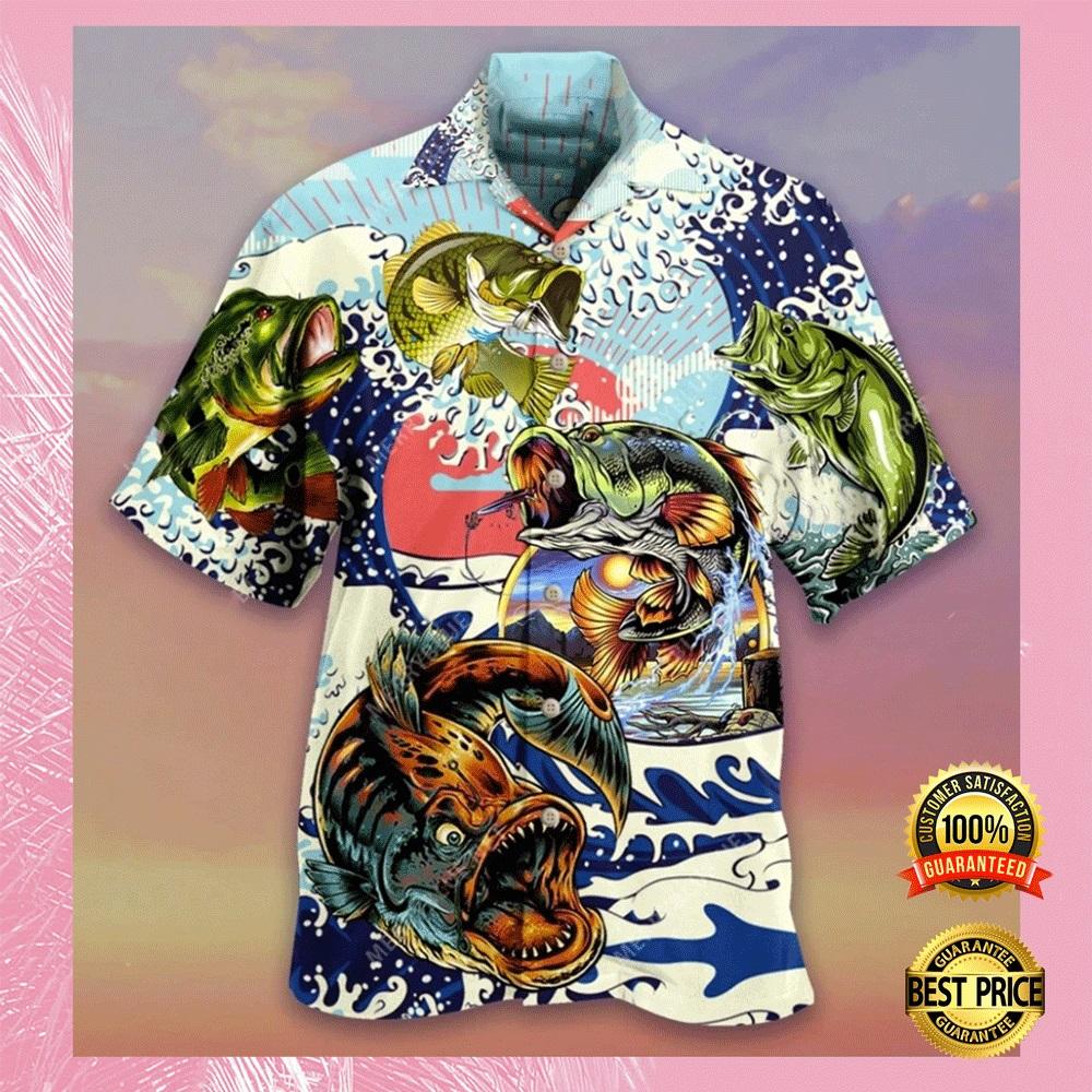 Vintage fishing hawaiian shirt1